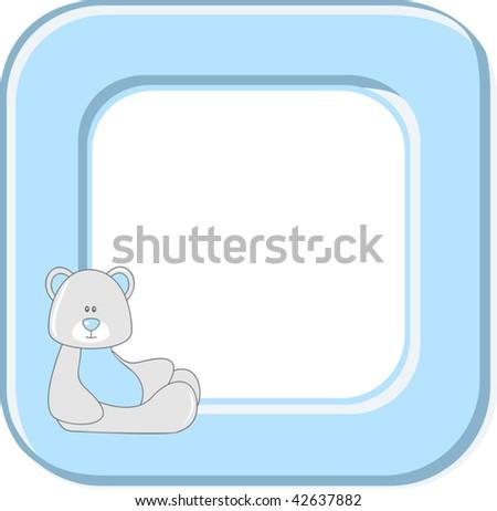 Baby photo frame - stock vector