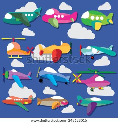 Baby plane - stock vector