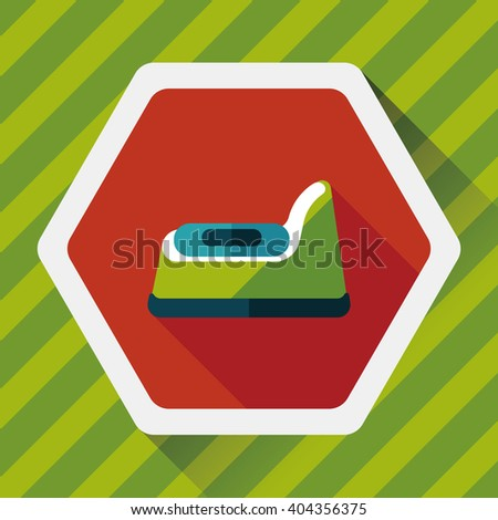 baby potty flat icon with long shadow,eps10 - stock vector