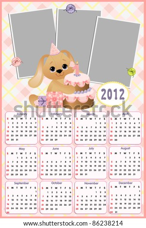 Baby Calendar 2012 Stock Photos, Royalty-Free Images & Vectors ...
