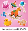 baby's toys collection - vector illustration - stock vector