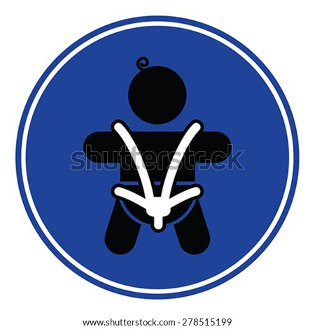 Baby safety seat belt - child safety seat, vector - stock vector