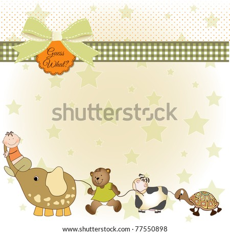 baby shower announcement - stock vector