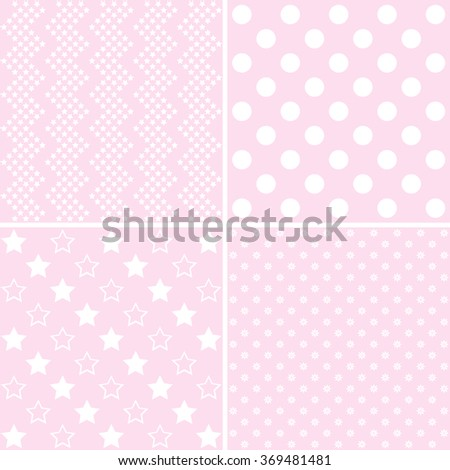 baby shower, baby background, Set of cute  patterns - stock vector