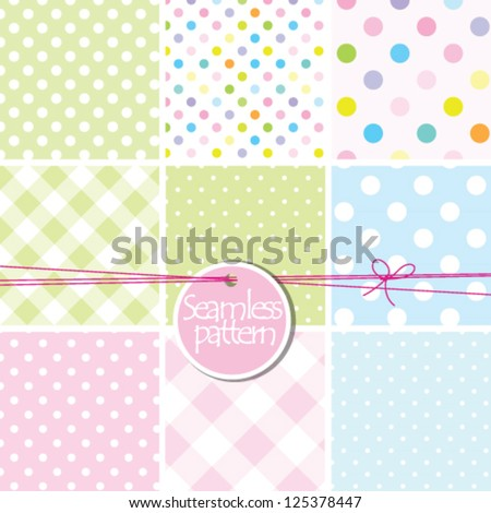 Baby Shower Background Set Of Cute Seamless Patterns