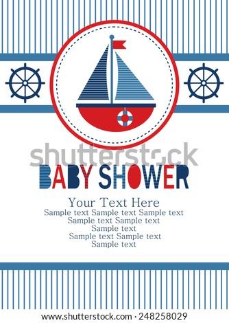baby shower card design. vector illustration - stock vector