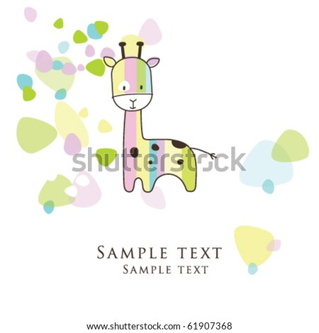 Baby shower card - Greeting card - stock vector
