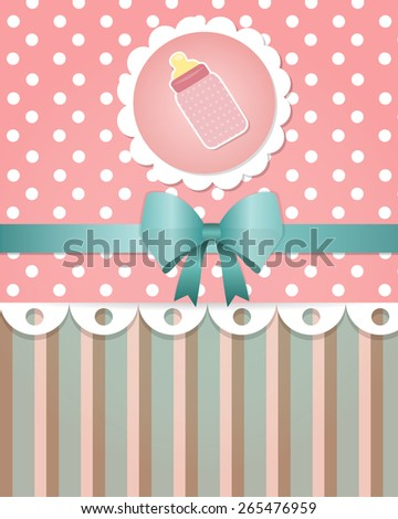 Baby shower card template - stock vector