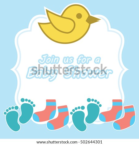 Baby Shower Card Template Stock Vector 502644457 - Shutterstock