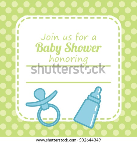 Baby Shower Card Stock Vector Shutterstock