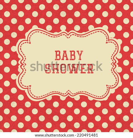Baby Shower card. Vector.