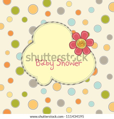 baby shower card with flower
