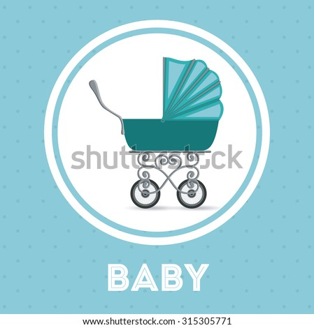 Baby shower concept, welcome to the birth icons design, vector illustration eps 10 - stock vector