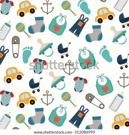 Baby Shower digital design, vector illustration eps 10 - stock vector