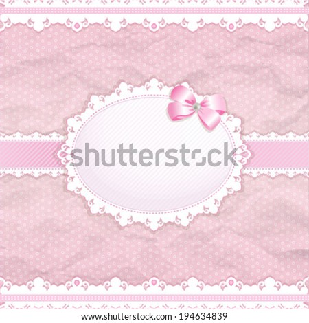 Baby shower for girl pink pastel tones vector eps10 - stock vector