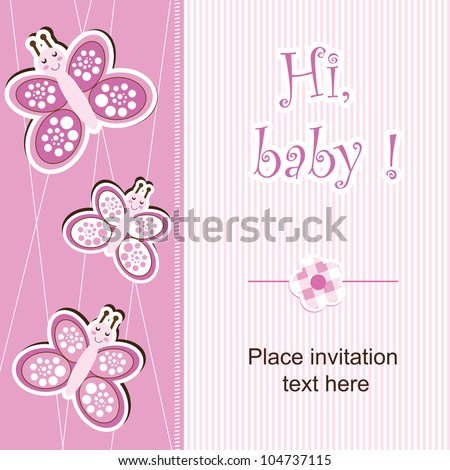 Baby shower - girl - stock vector