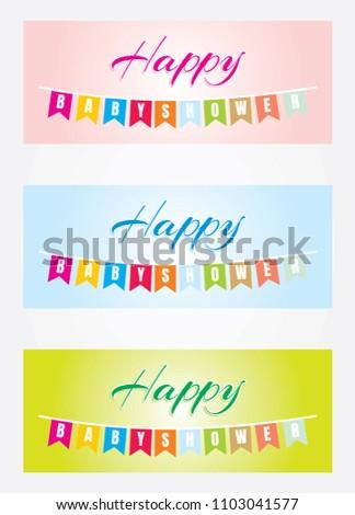 Baby Shower Greetings Stock Vector 1103041577 Shutterstock