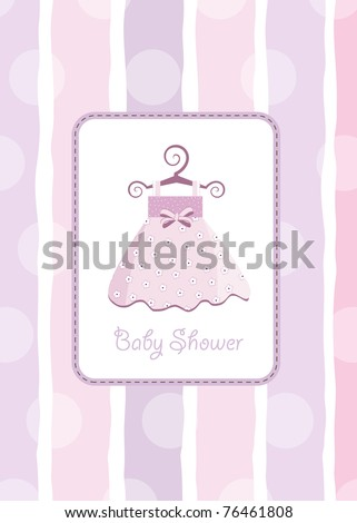 baby shower invitation - stock vector