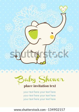 Baby Shower Invitation Card Stock Vector Shutterstock - Baby shower invitation text