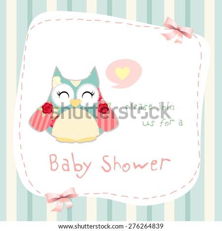 baby shower invitation card design. eps10 - stock vector