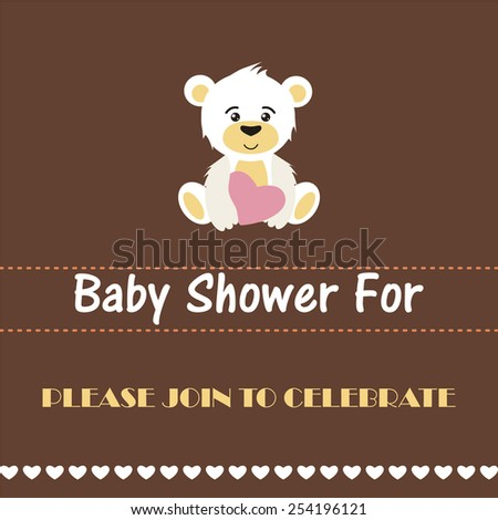 Baby shower invitation, template.