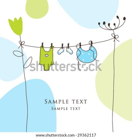 Baby Boy Shower Invitation Template Cute Vector 44473303 – Cute Baby Boy Announcements