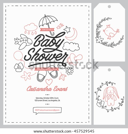 baby shower announcement templates
