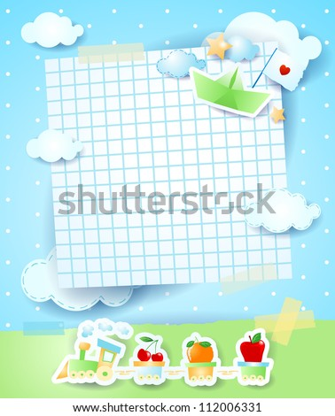 Baby shower invitation, vector background - stock vector