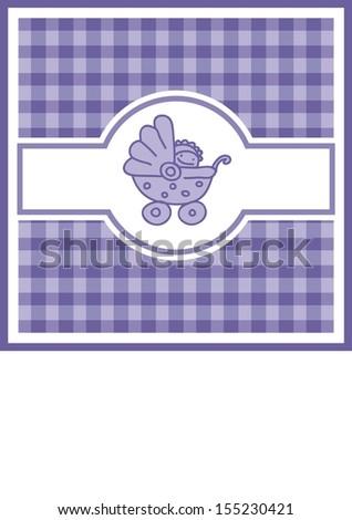 Baby shower invitation, vector background  - stock vector