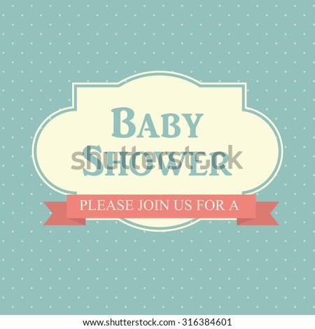 Baby Shower Invitation Card Editable Type Vector 135110846 – Editable Baby Shower Invitations