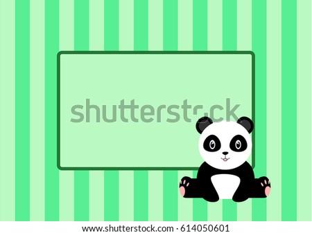 Baby shower invitation panda stock vector royalty free 614050601 baby shower invitation with a panda filmwisefo