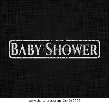 Baby Shower on blackboard - stock vector