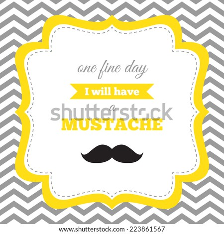 Baby Shower Birthday Invitation Mustache Party Stock Photo Photo