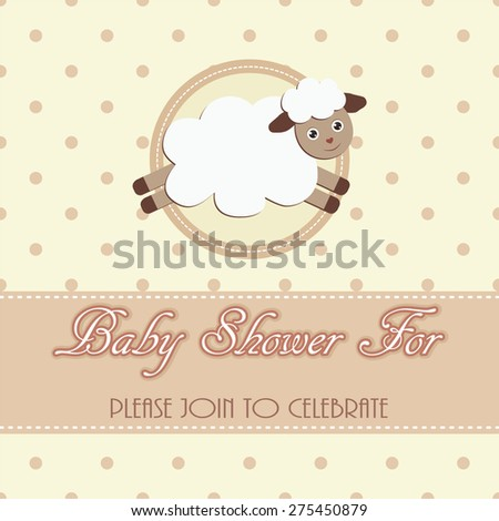 Baby shower sheep card