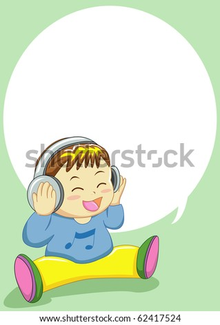 baby singing can use for input text in  blank space - stock vector