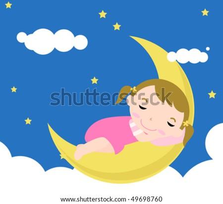 Baby sleeping - stock vector