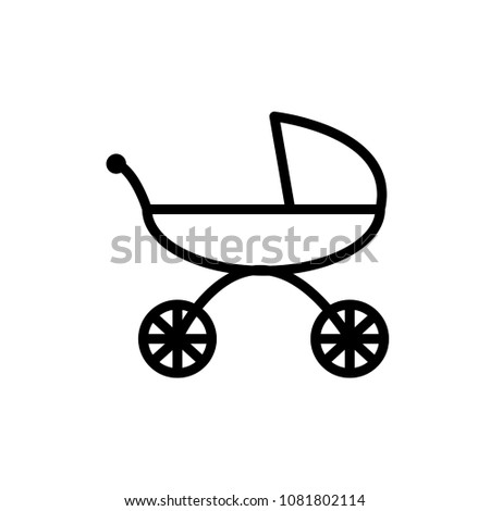 Baby Stroller Icon Vector Template Stock Photo (Photo, Vector ...