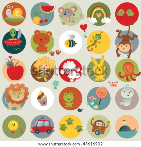 Baby Stuff. Vector illustration of all things  cute. - stock vector