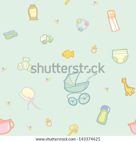 Baby theme - stock vector