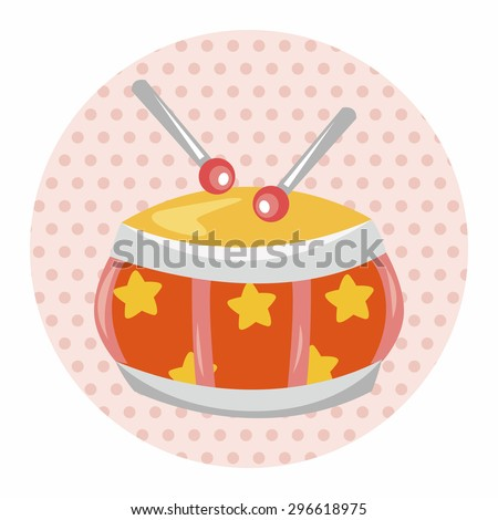 baby toy drum theme elements - stock vector
