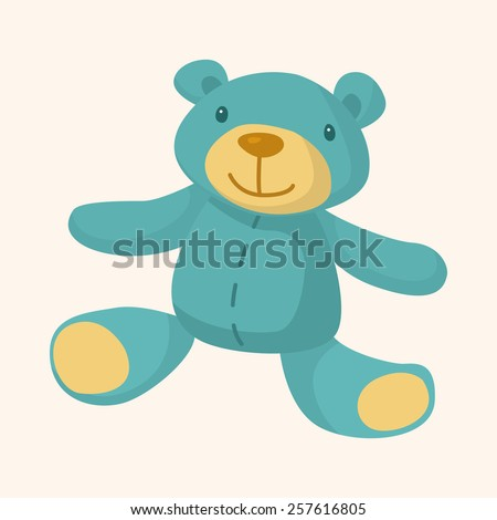 baby toy theme elements - stock vector