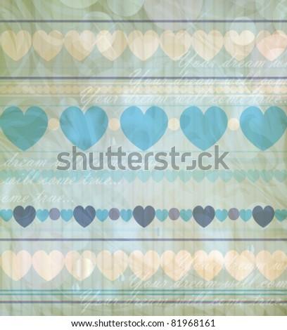 Baby vintage backdrop (vector version eps 10) - stock vector