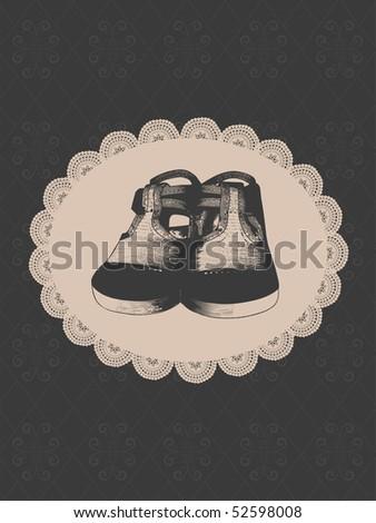 baby vintage design - stock vector