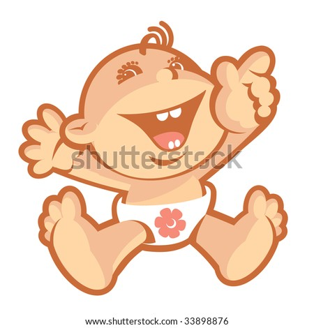 Baby-1. Without a gradient - stock vector