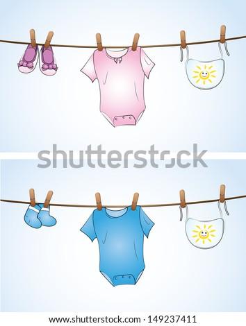 Babysachen - stock vector