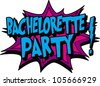 bachelorette - stock vector