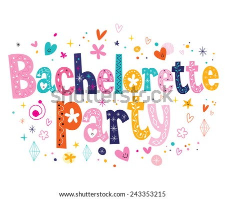 Bachelorette party - stock vector