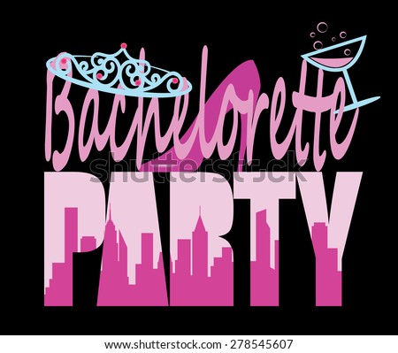 Bachelorette Party Sign With Unusual Letter Design