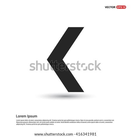 back arrow previous icon set. - stock vector