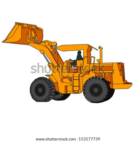 Back Hoe Vector - stock vector
